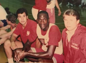 With Michael Jordan 1986 working his basketball camps