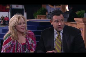 My Wife, Bobbie Jo and I doing a TV interview with Tim Fox / Kenneth Copeland Ministries